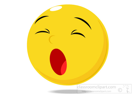 550x400 Emotions Clipart Smiley Face Character Yawning Expression Clipart