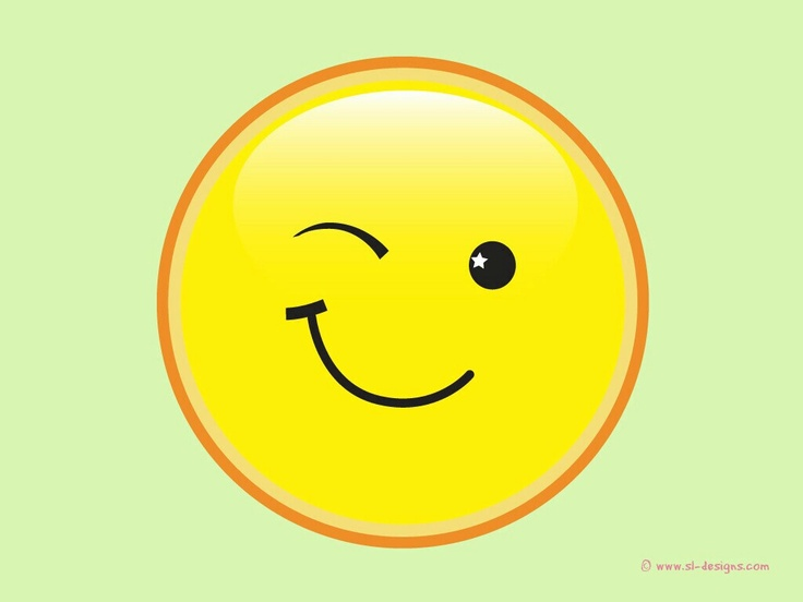 Smiley Face Winking