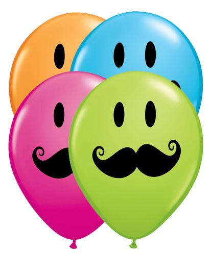 411x500 Mustache Smiley Face Latex Balloons Latex Balloons, Smiley