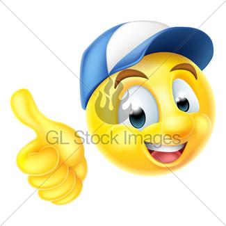 325x325 Carpenter Emoji Emoticon With Hammer Gl Stock Images
