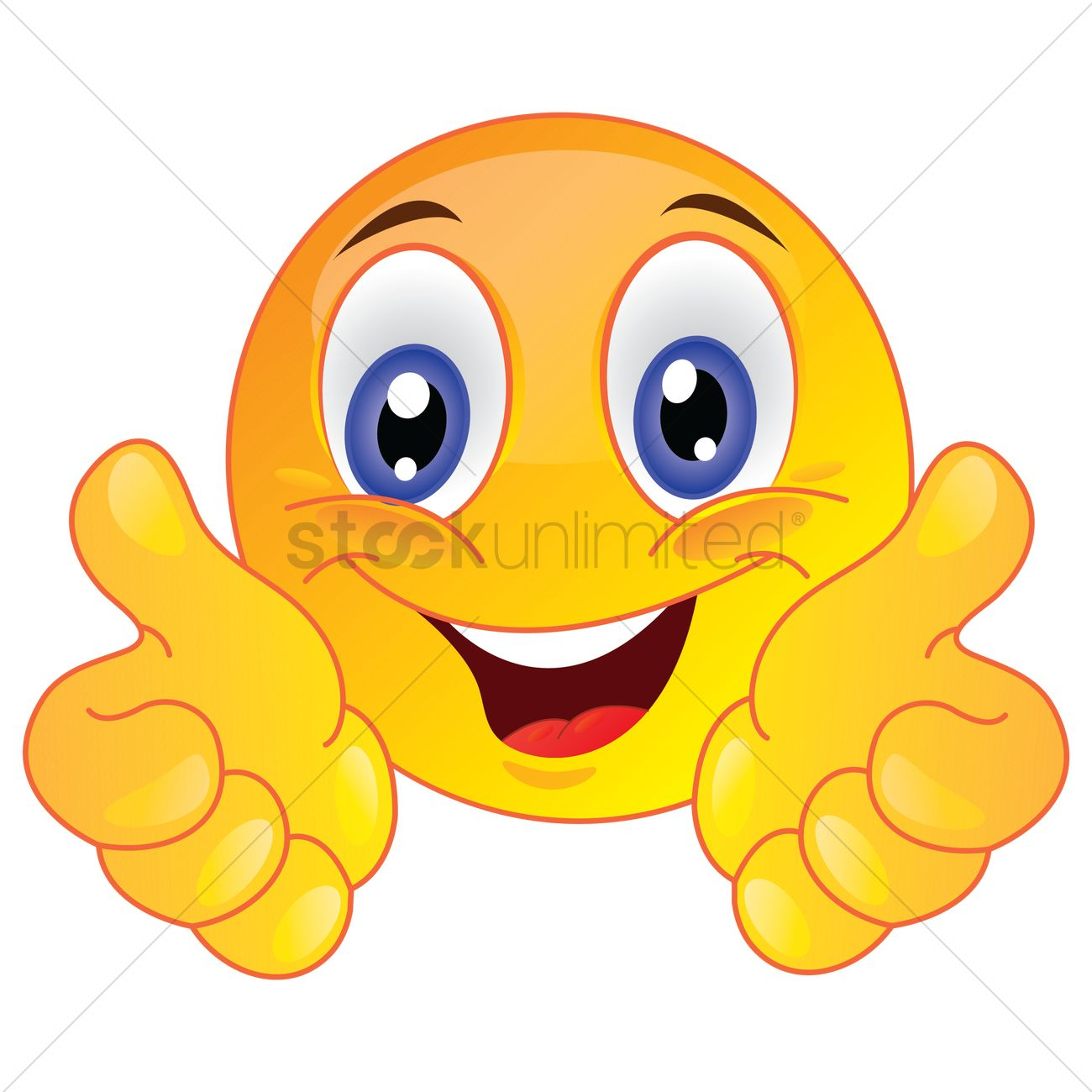 1300x1300 Smiley Face Showing Thumbs Up Vector Image