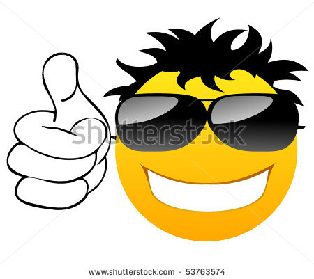 450x401 Sunglasses Clipart Smiley Face Thumbs Up