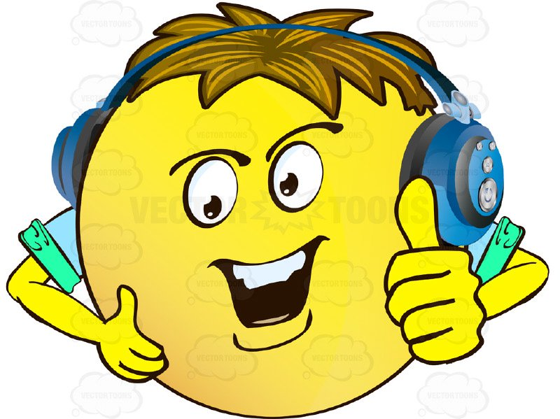 800x599 Confident Yellow Smiley Face Emoticon With Arms, Brown Hair