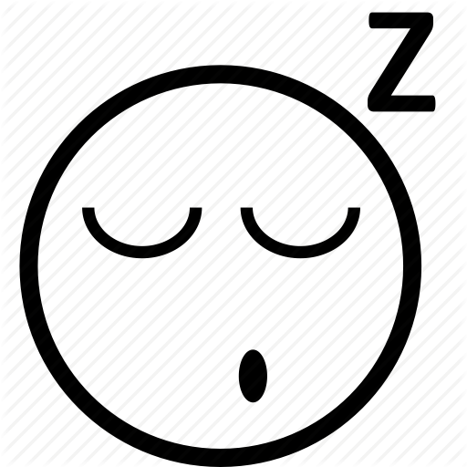 512x512 Sleepy Smiley Clipart