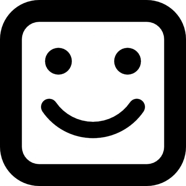 626x626 Smile Square Face Icons Free Download