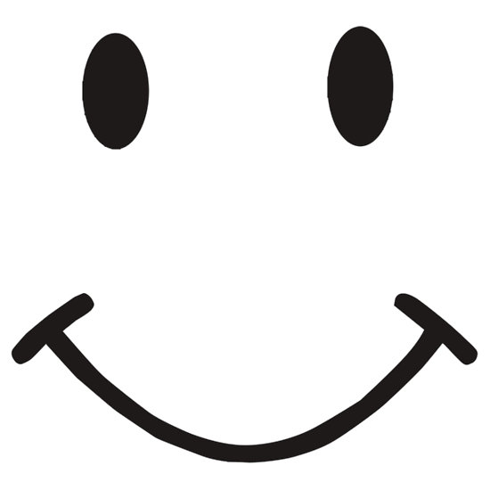 550x550 Smiley Face Black And White