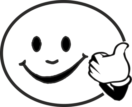 423x342 Smiley Face Black And White Sad Clipart