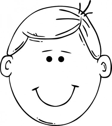 378x425 Smiley Face Clipart Black And White Free Clipart Image