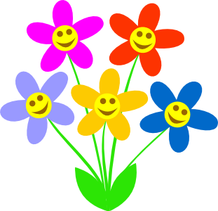 311x300 Spring Flowers Clip Art Free