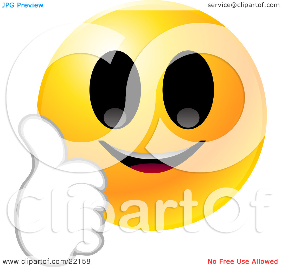 1080x1024 Smiley Face Thumbs Up Clipart Clipart Illustration Of A Yellow