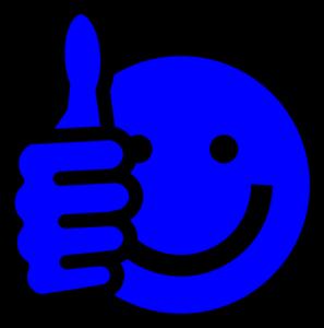 297x300 Blue Thumbs Up Clip Art