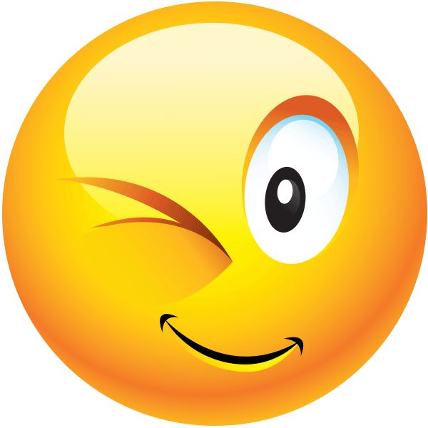 Image result for Image of a large emoji winking