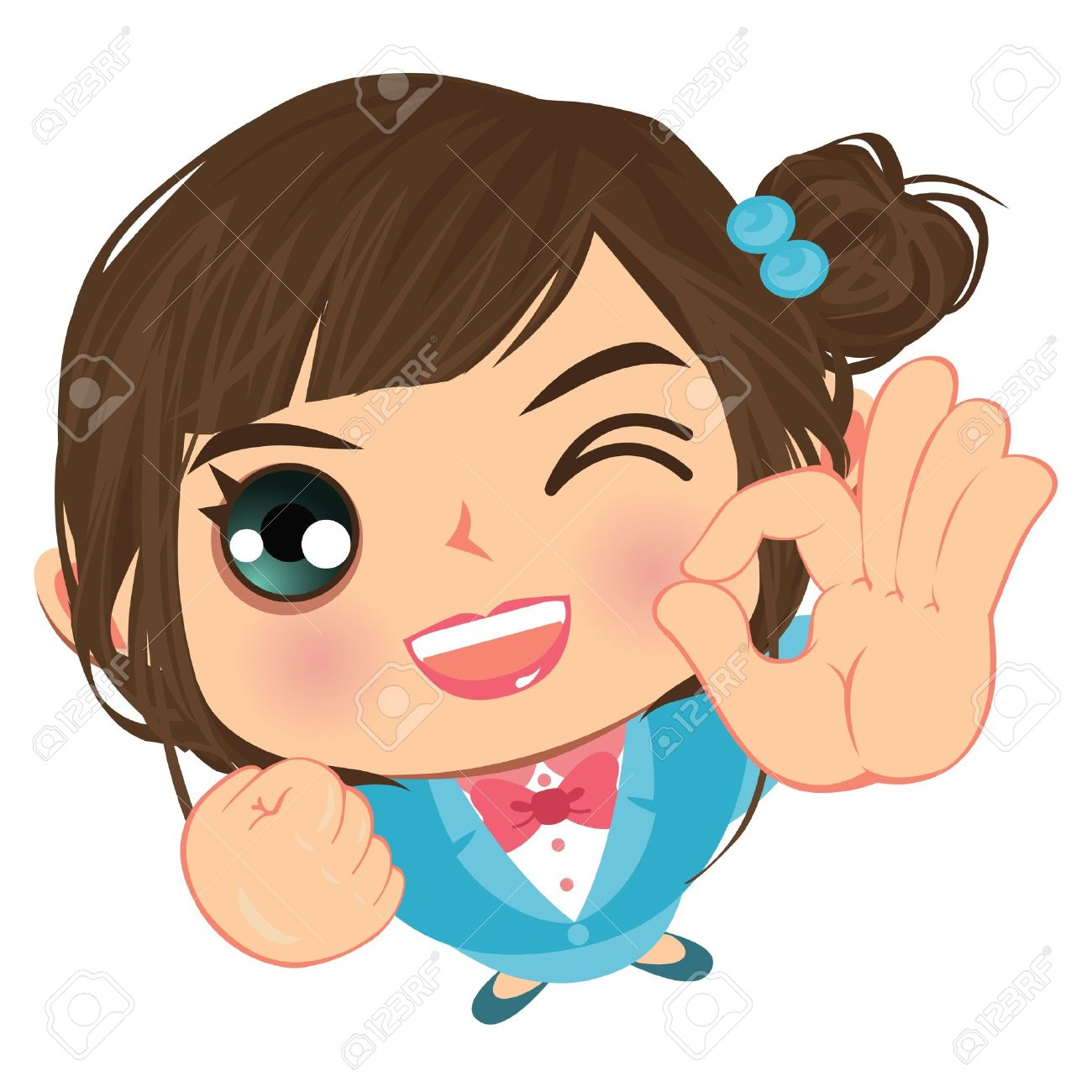 1300x1300 Ok Business Wink Girl Okay Royalty Free Cliparts, Vectors,