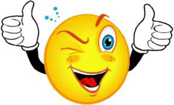 600x364 Smiley Faces Thumbs Up Wink Clipart Image