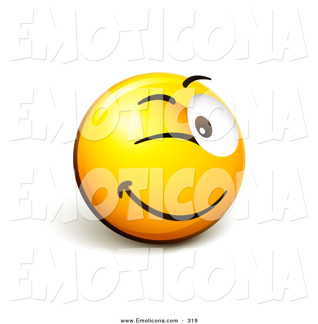 1024x1044 Vector Illustration Of A Flirty And Expressive Yellow Smiley Face