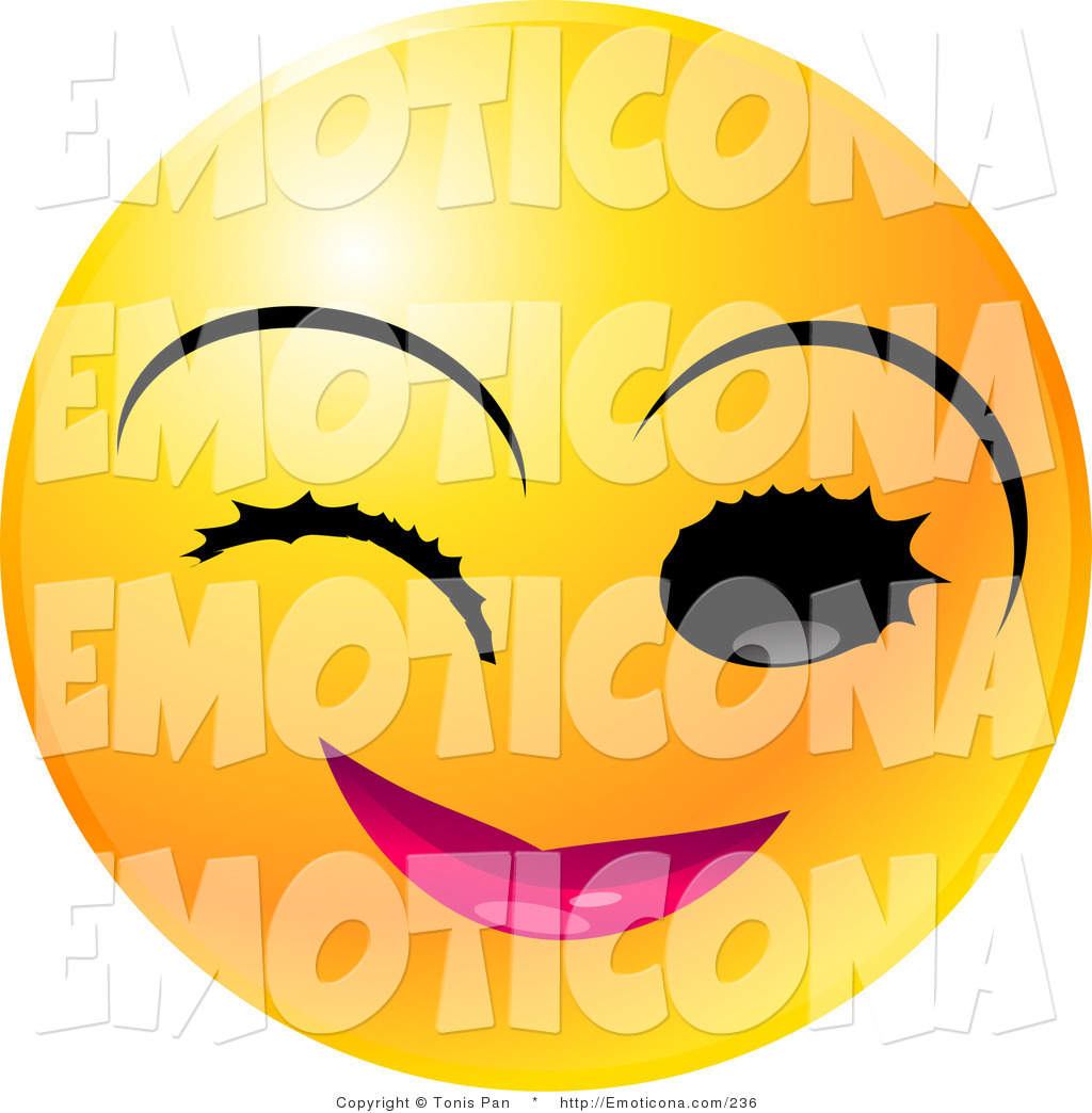 1024x1044 Vector Illustration Of A Round Yellow Emoticon Face With Pink Lips