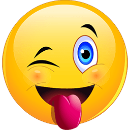 256x256 Wink Tongue Out Emoticons For Facebook, Email Amp Sms Id  34