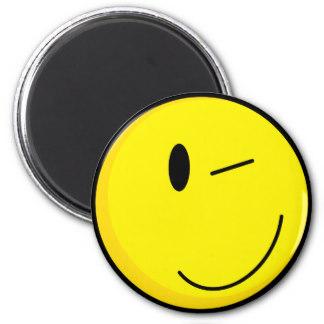 324x324 Winking Smiley Refrigerator Magnets Zazzle