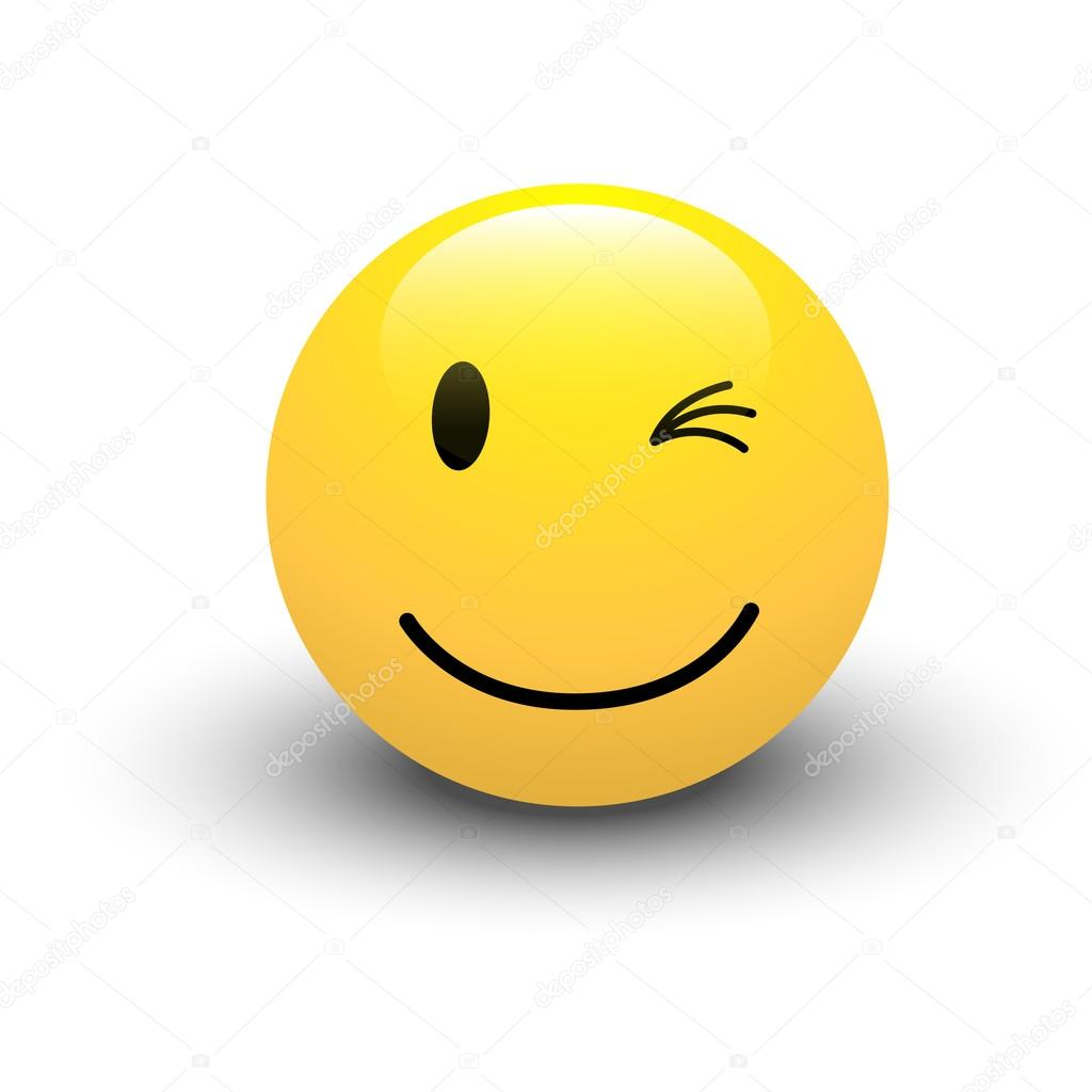 1024x1024 Winking Smiley Vector Stock Vector Baavli