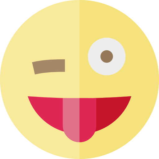512x512 Wink, Interface, Faces, Emoji, Ideogram, Tongue, Feelings