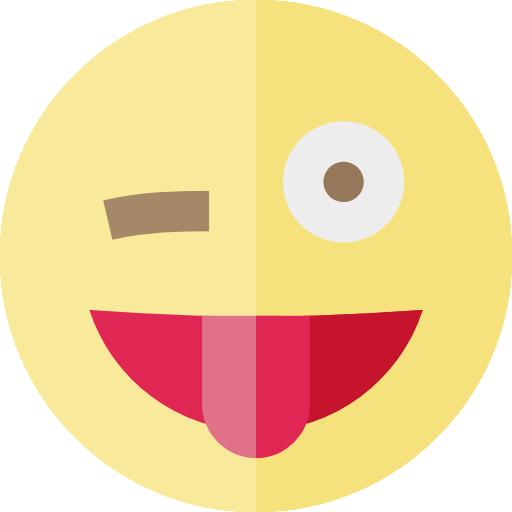 512x512 Wink, Interface, Faces, Emoji, Ideogram, Tongue, Feelings