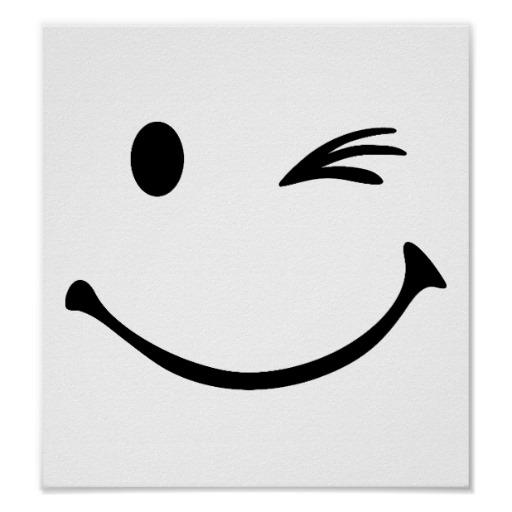 512x512 Wink Face Clip Art