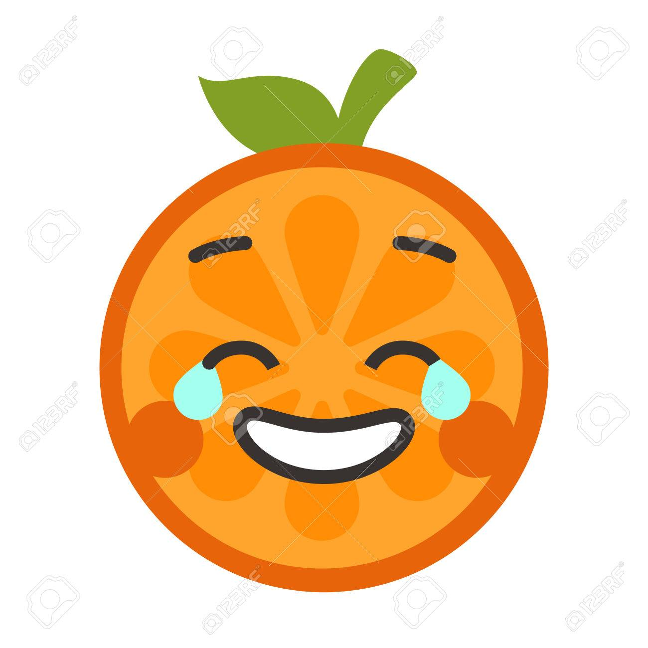 1300x1300 Laugh With Tears Emoji. Laughing With Tears Orange Fruit Emoji