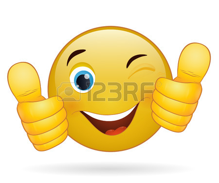 450x376 Thumb Up Emoticon, Yellow Cartoon Sign Facial Expression Royalty