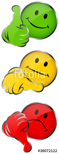 192x500 2 Thumbs Up, Middle Amp Down Smileys 3d Stock Image And Royalty