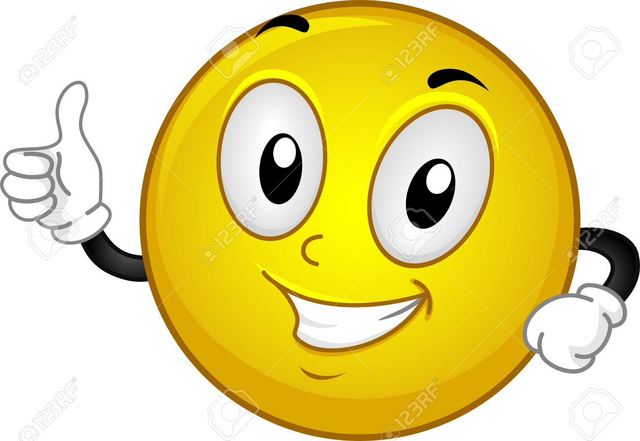 1300x895 Illustration Of A Smiley Giving A Thumbs Up Stock Photo, Picture