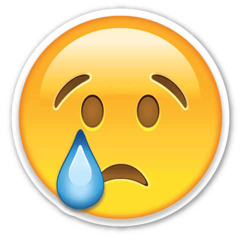 Sad emoji extreme. Collection of tear clipart