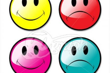 450x300 Happy Face Sad Face Clip Art