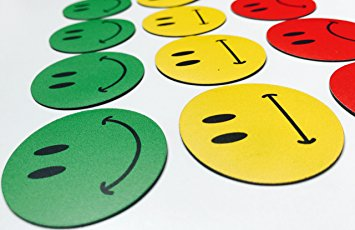 355x230 30 Colourful Smiley Face Magnets (10 Red 10 Green Smiling Smiley