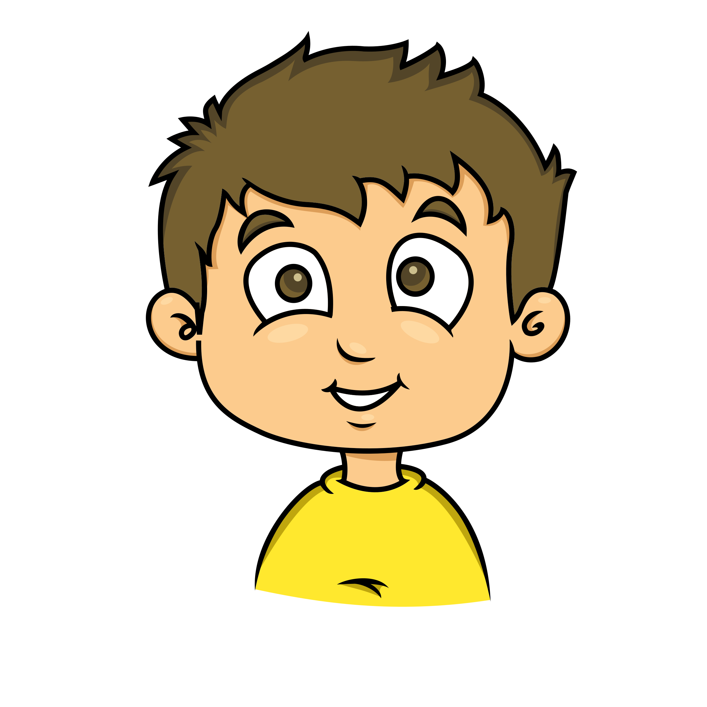 2400x2400 Child clipart happy face