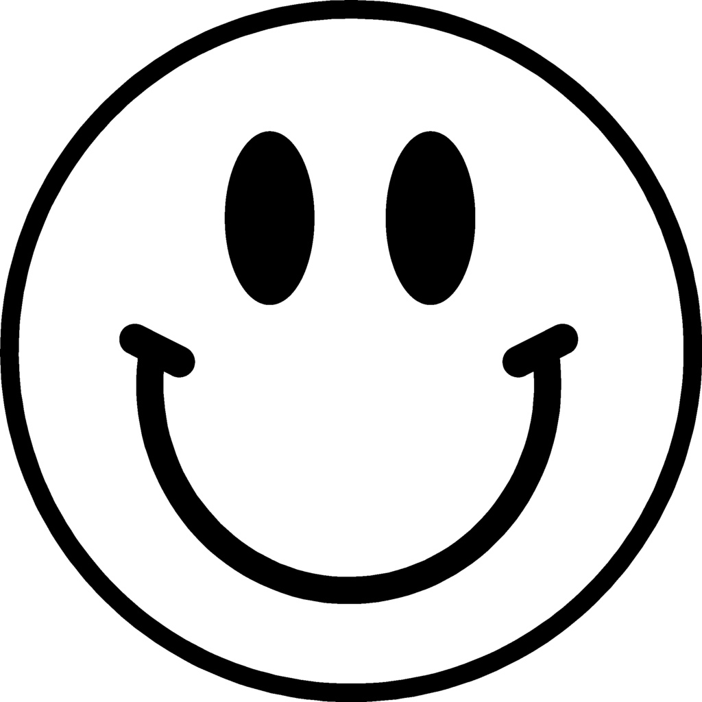 1024x1024 Smiley face transparent background free clipart