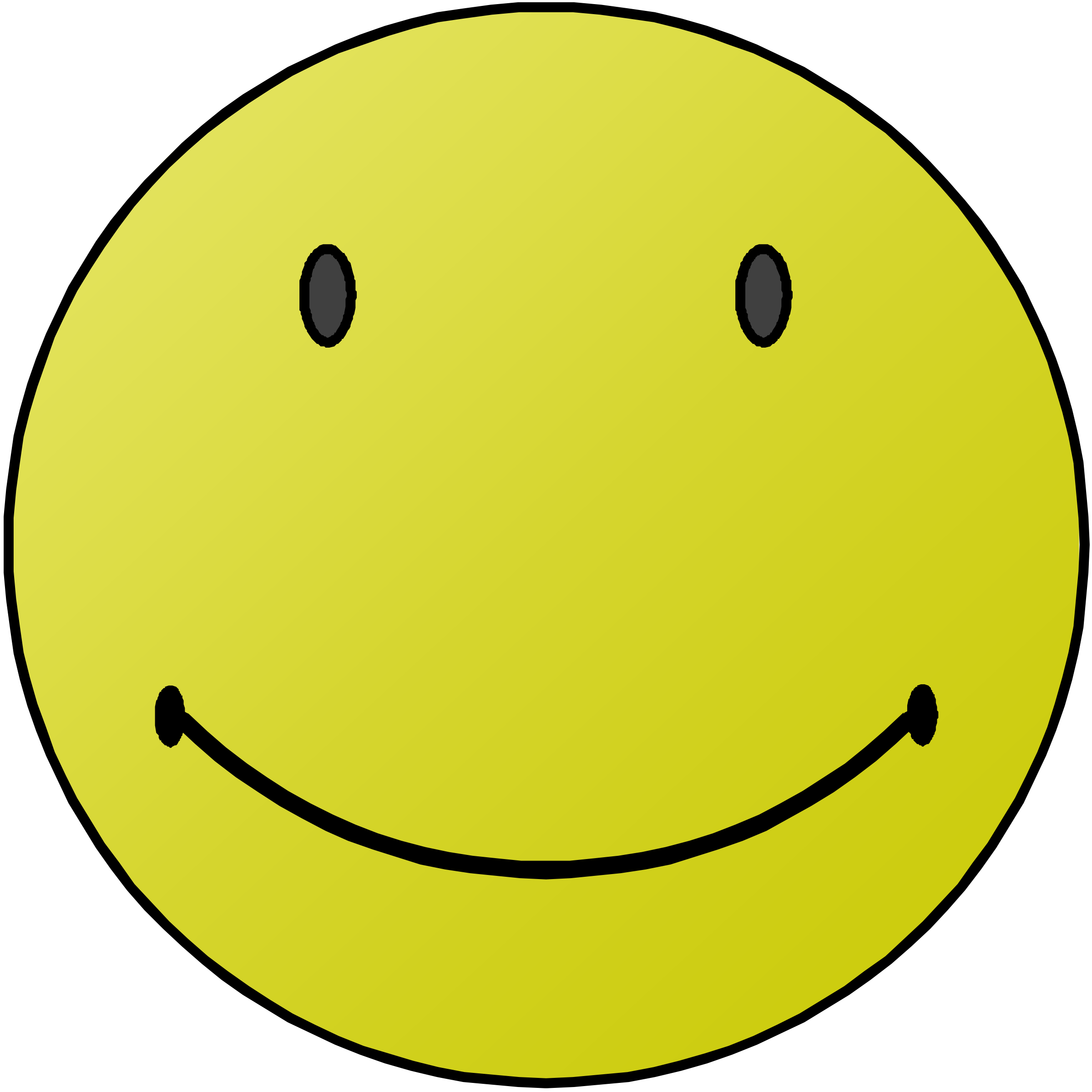 2400x2400 Smiling Face Clip Art