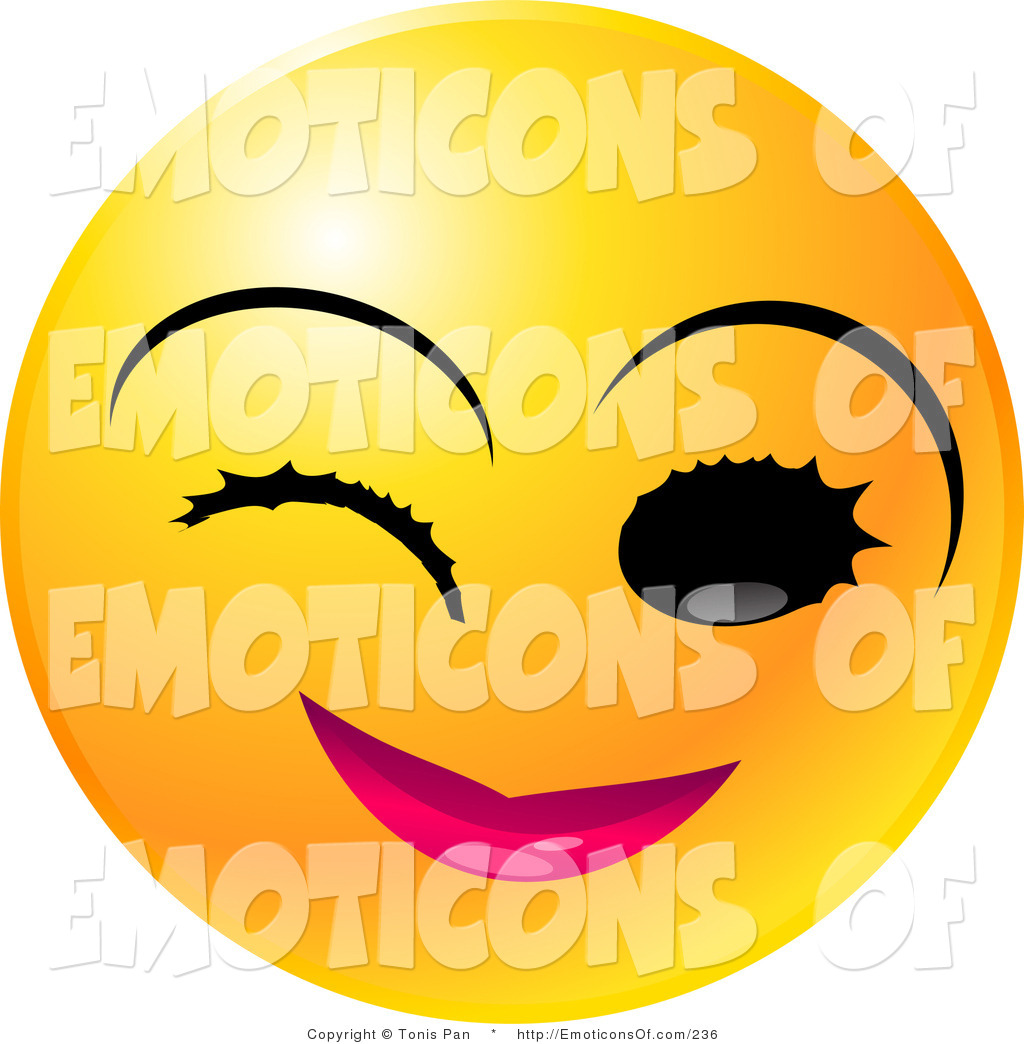 1024x1044 Flirty Smiley Face Clip Art