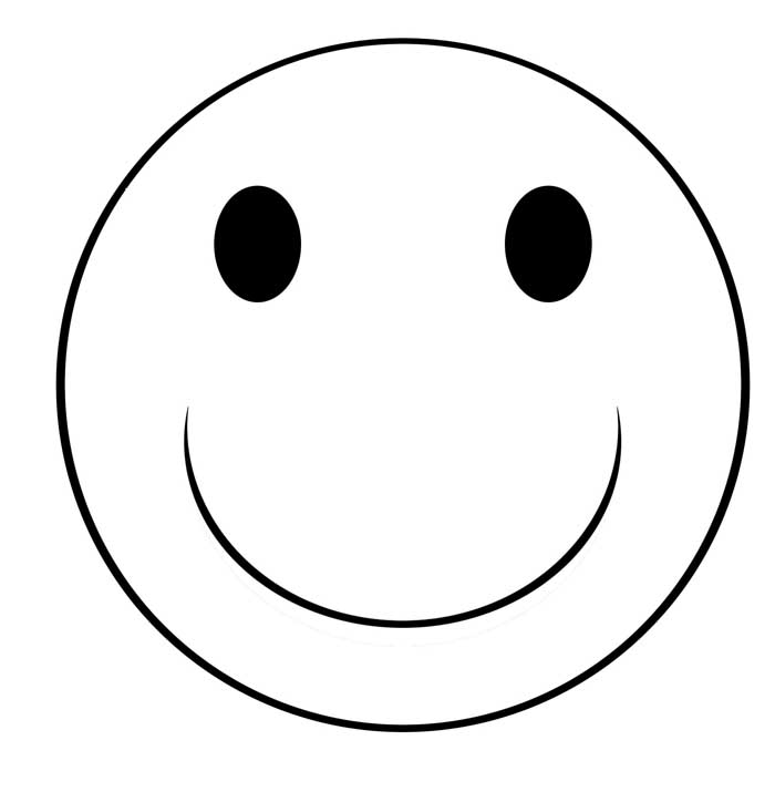 700x715 Smiley Face Clip Art Black And White