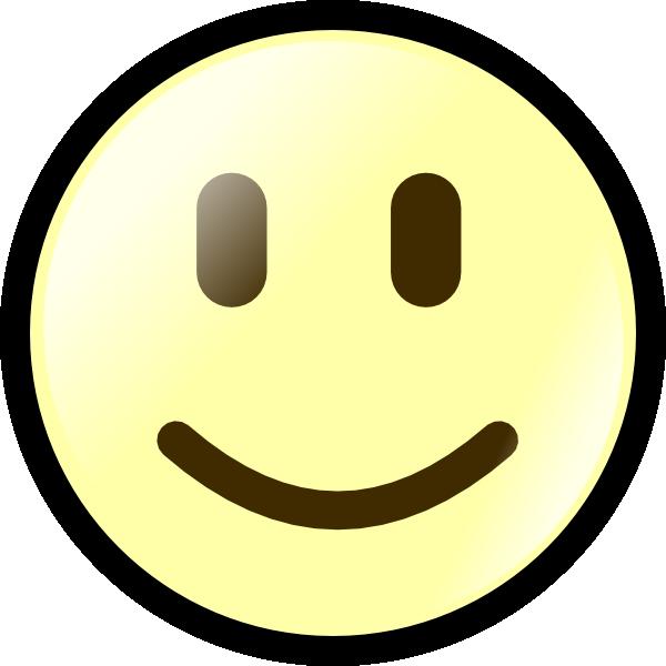 600x600 Yellow Happy Face Clip Art