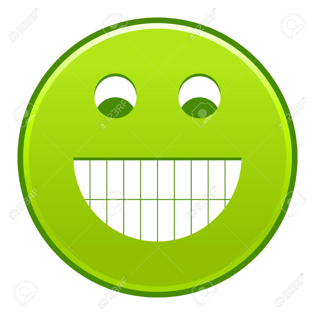 1300x1300 Green Smiling Face Cheerful Smiley Happy Emoticon. Quick