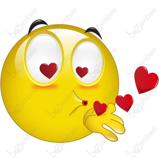 512x512 Kissing Clipart Smiling Face