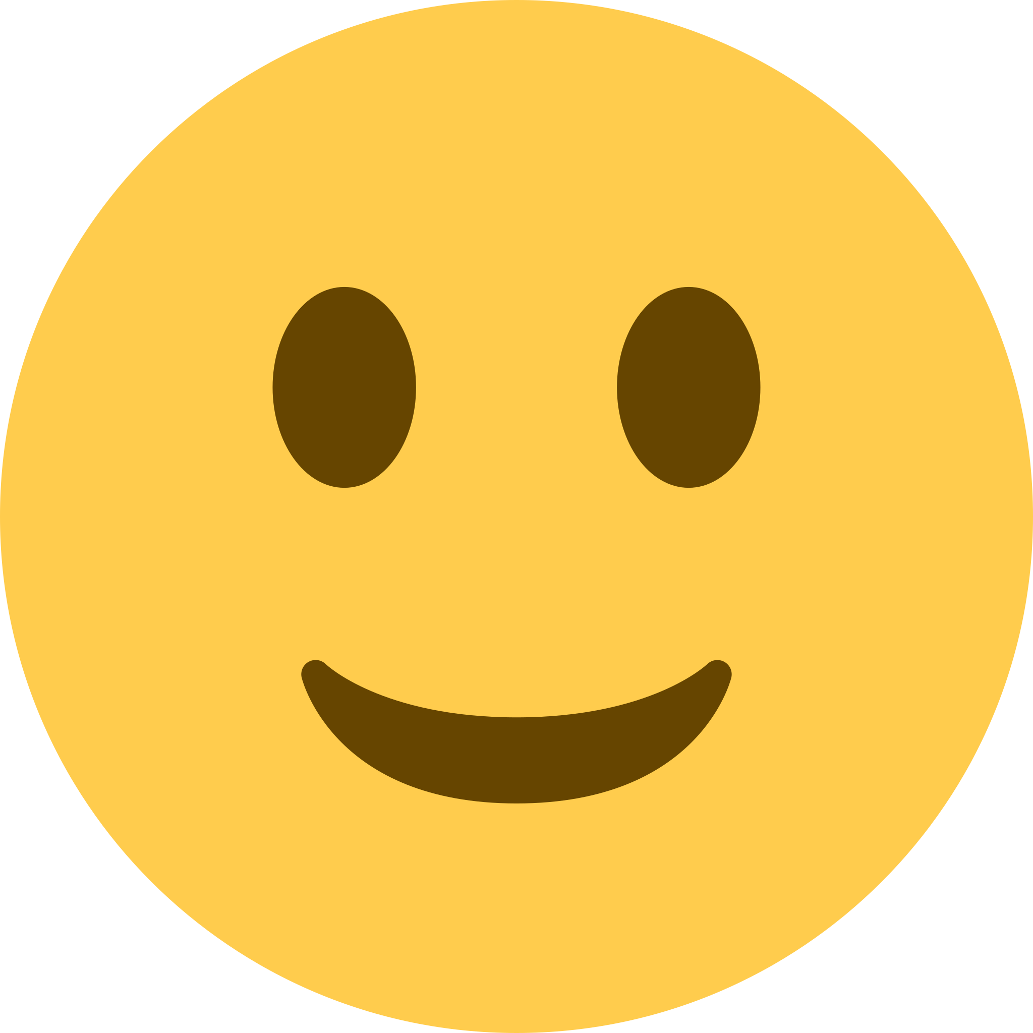 2048x2048 Pegatina denbora lerroa Slightly smiling face