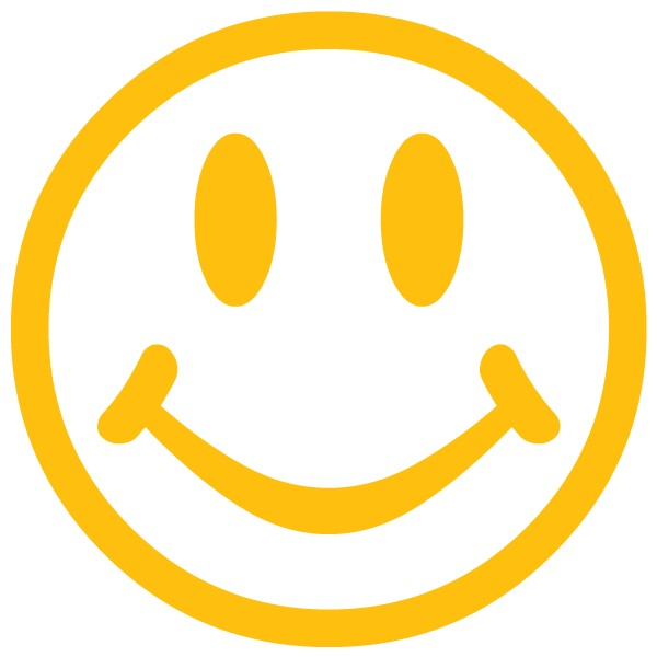 600x600 Clipart face smiling