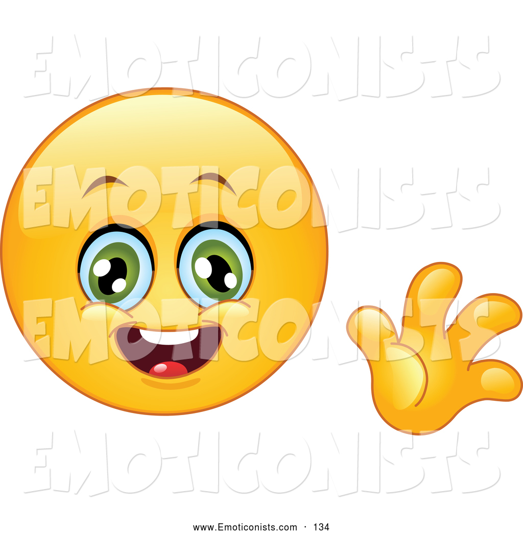 1024x1044 Clip Art Of A Smiling Yellow Smiley Face Waving Hello By Yayayoyo