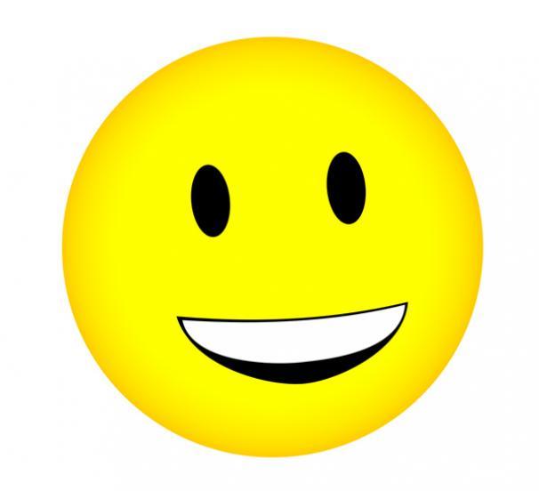606x552 Smiling Face Clip Art