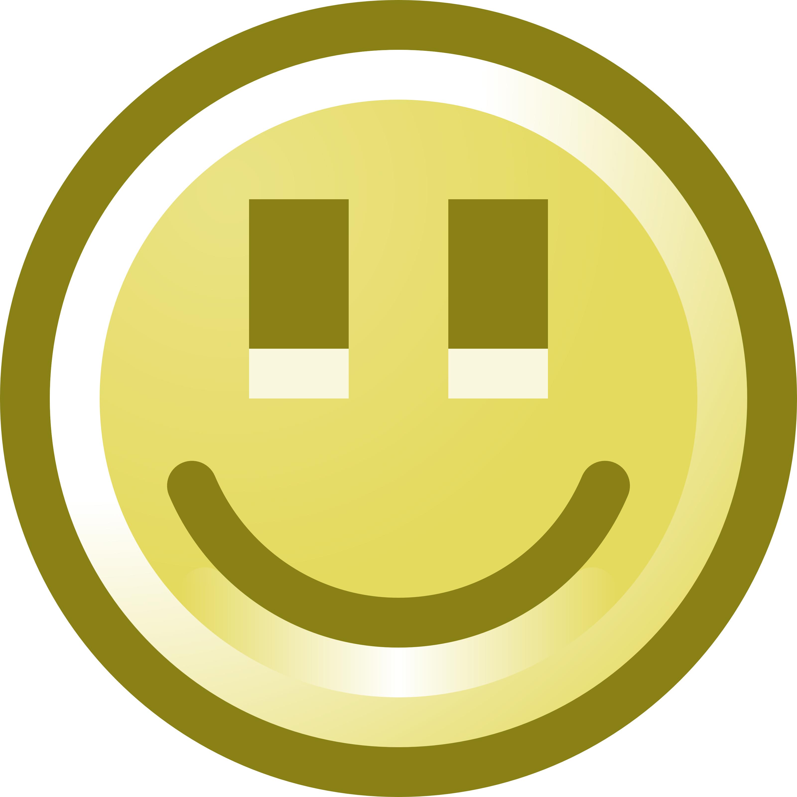 3200x3200 Smiling Smiley Face Clip Art Illustration