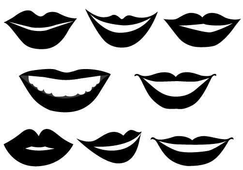 502x352 Man Smiling Lips Clipart