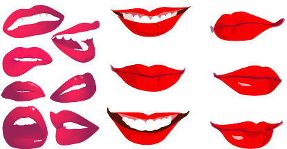 415x216 Smiling Mouth Free Vector Download (1,126 Free Vector)