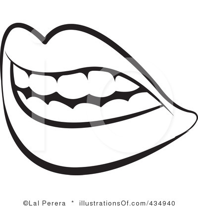 400x420 Mouth Smile Clipart Black And White