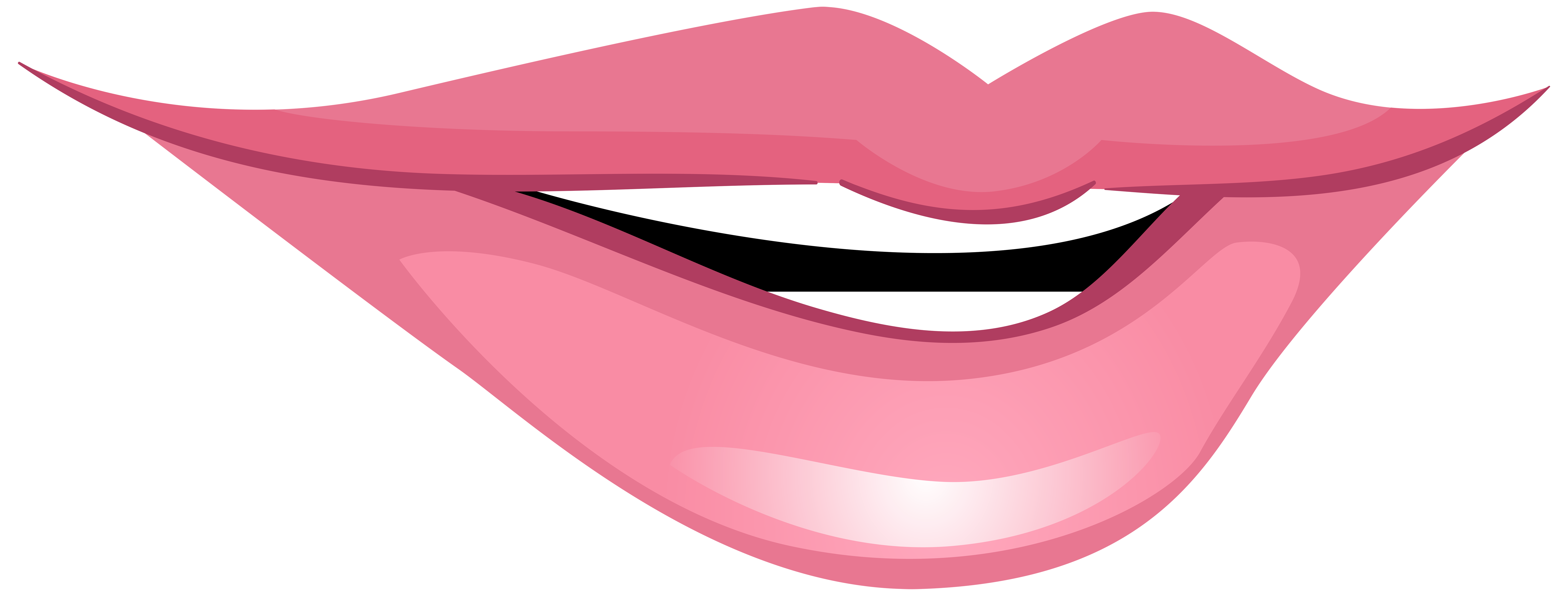 8000x3040 Pink Smiling Mouth Png Clip Art